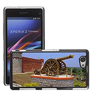 GoGoMobile Slim Protector Hard Shell Cover Case // M00123845 Canon Memorial Fort Building // Sony Xperia Z1 Compact D5503
