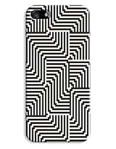 Black and Whire Optical Illusion Case for your iPhone 5/5S hjbrhga1544