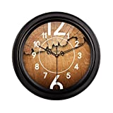 HAOFAY Mute Wall Clock, Vintage Pattern Arabic Numerals Round Clock (vintage) ( Size : 16 inches/40 cm )