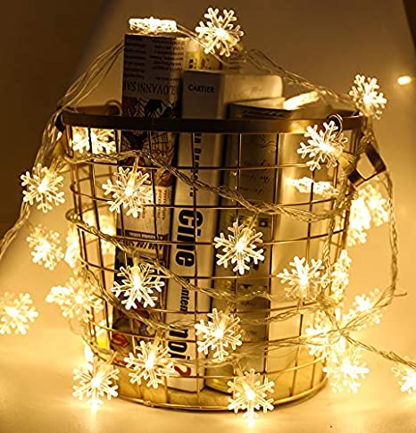 peiqi light led lights battery operated 10m 80 led lights snowflake lights christmas lights copper wire