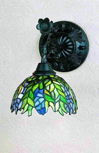Victorian Tiffany Honey Locust 1 Light Wall Sconce