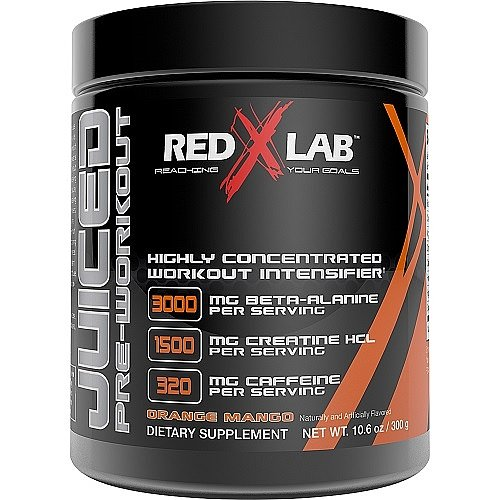 Red X Lab Juiced PreWorkout Orange Mango 300 g