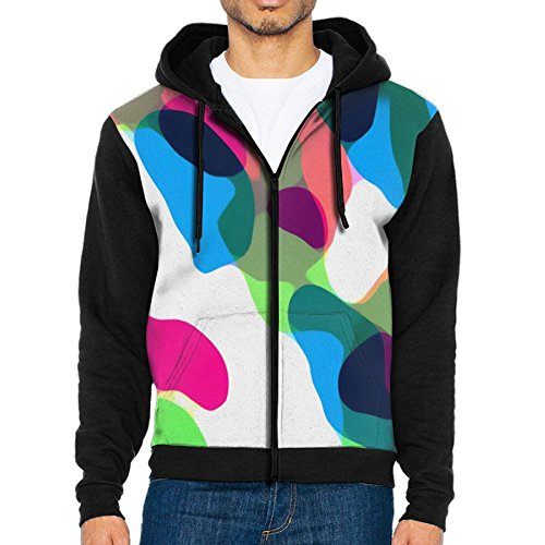 Decagon Print Jacket (Men 3D Graphic Sweatshirts Colorful Camo Personalised Zip Up Jacket)