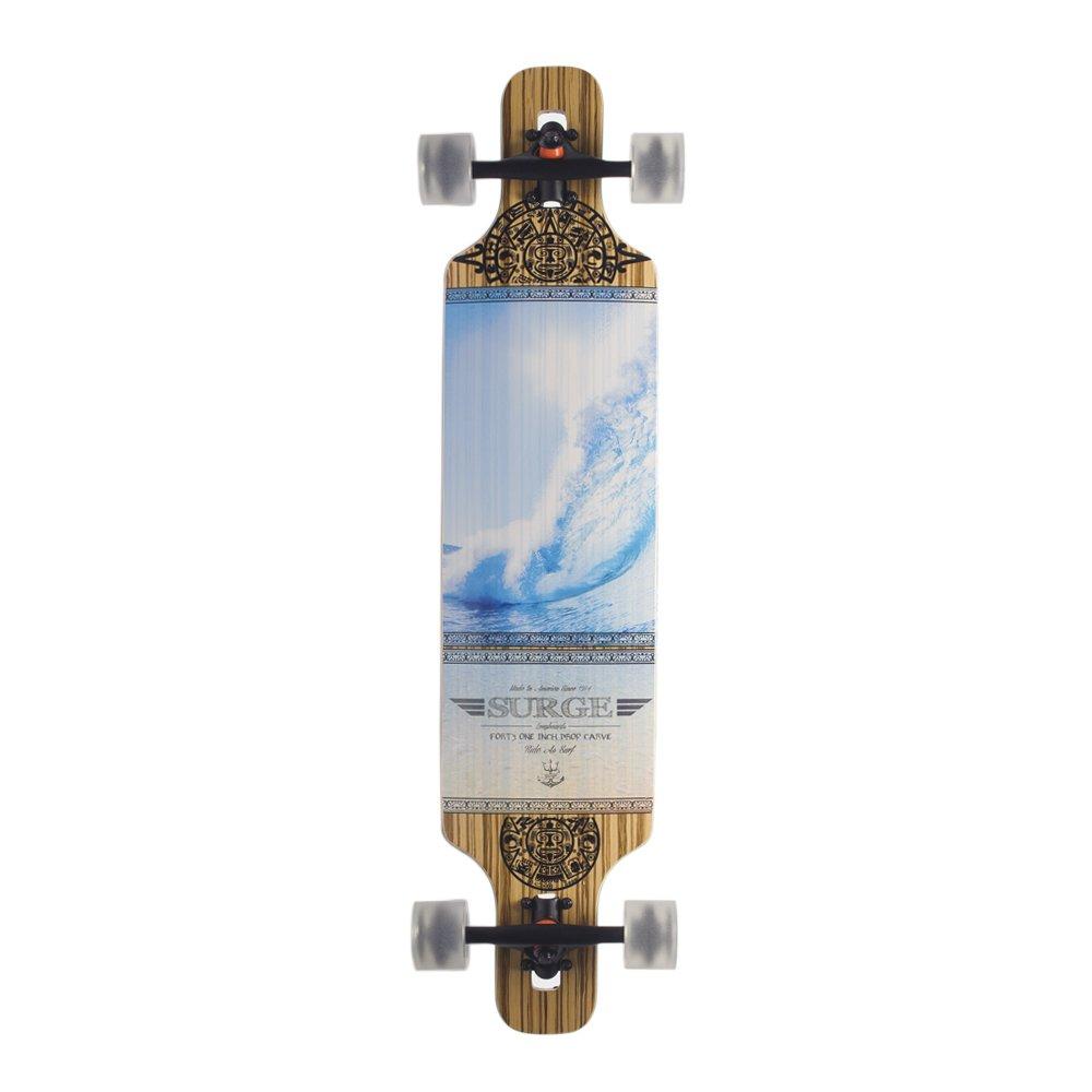 BACKFIRE Drop Through Longboard Complete Lightweight 39 8.625inch Professional longboards (Blue)
