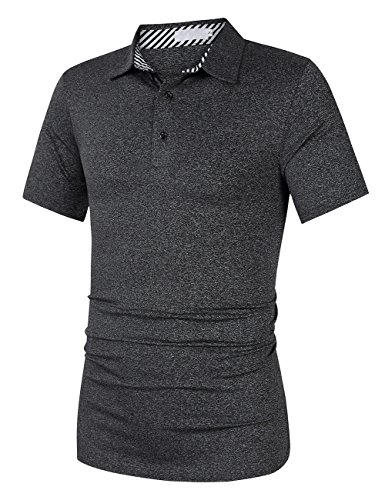 Yong Horse Men's Casual Dry Fit Golf Polo Shirts 2 Button Athletic Short Sleeve Polo T Shirt – DiZiSports Store