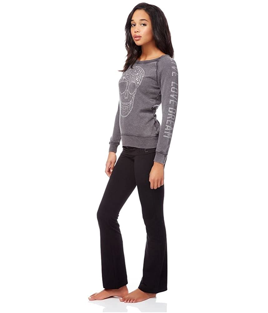 ca264a0eee Amazon.com: Aeropostale Womens Bootcut Yoga Pants Black S/31 - Juniors:  Clothing