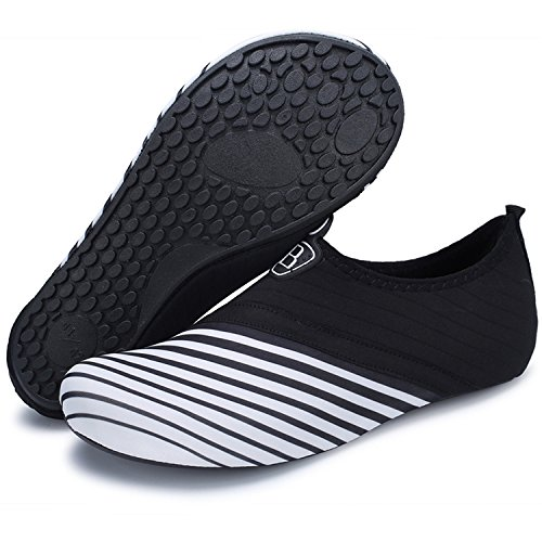 Centipede Demon Womens Water Shoes House Office Shoes Mens Quick Drying Barefoot Footwear Aqua Sock White Stripe