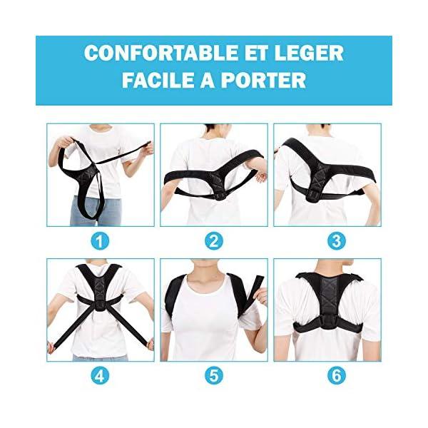 Correcteur De Posture Taille L/XL Réglable, Homme et Femme, Ceinture Dorsale pour Maintien Dos, Idéal pour Soulager Les…