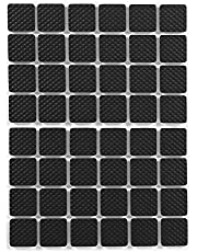 48-Delige Vierkante Zwarte Antislip Zelfklevende Rubberen Voetjes Beschermers Meubels Voor Kasten Kleine Apparaten Elektronica Fotolijsten Meubelladen Kasten