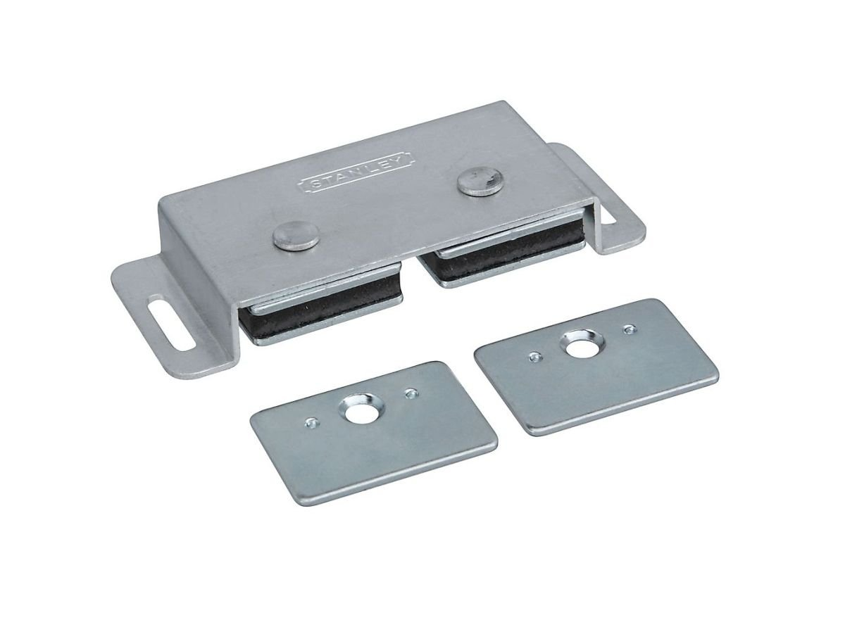 Stanley Hardware S805-180 40 Pack CD45 Double Magnetic Cabinet Catch, Clear Coated Aluminum