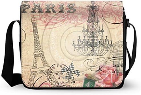 imobaby Romantic Pari Elffel Tower Laptop Messenger Shoulder Bag Notebook Sleeve Carrying Briefcase Handbag 15-15.4 inches