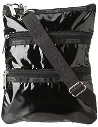 LeSportsac Kasey Shoulder Bag, Black Patent, International Carry-On