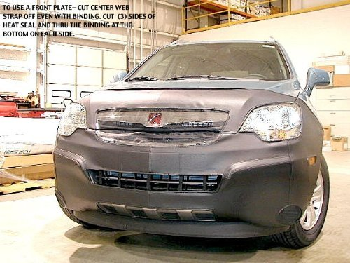 Lebra 2 piece Front End Cover Black - Car Mask Bra - Fits - SATURN VUE XE XR and Hybrid 2008 thru 2010 (except Redline)