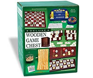 Deluxe Wooden Game Chest