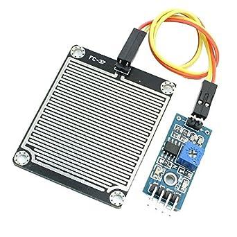 icstation lluvia Sensor Detector de agua de lluvia módulo con LM393 comparador de entrada para Arduino