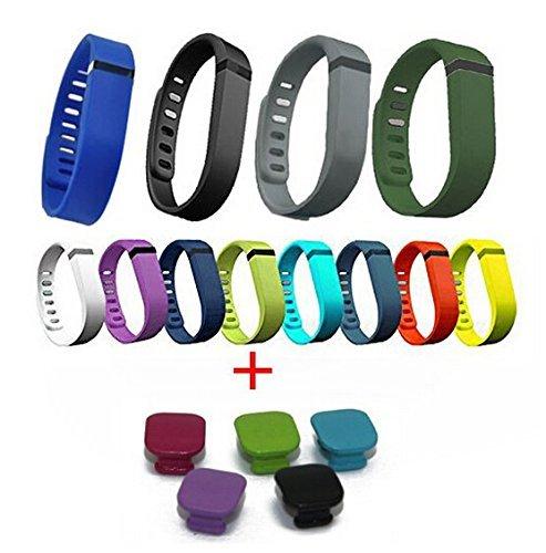 HB HOMEBOAT® 12pcs Aktivität- und Schlaf-Armband Wristband für Fitbit Flex mit Clasp ohne Tracker Groß