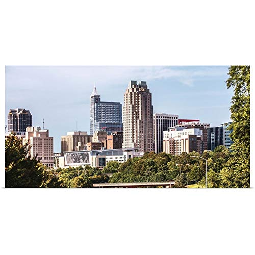 GREATBIGCANVAS Poster Print Raleigh Skyline, from McDowell Street, North Carolina by Circle Capture 36