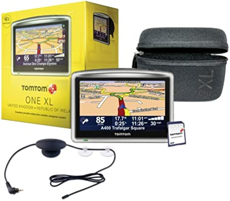 tomtom one xl europe map TomTom ONE XL Satellite Navigation System with Case, RDS TMC