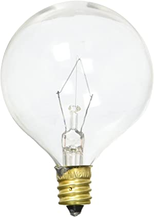 Westinghouse Lighting 0382300, 40 Watt, 120 Volt Clear Incand G16.5 Light Bulb, 1500 Hour 340 Lumen