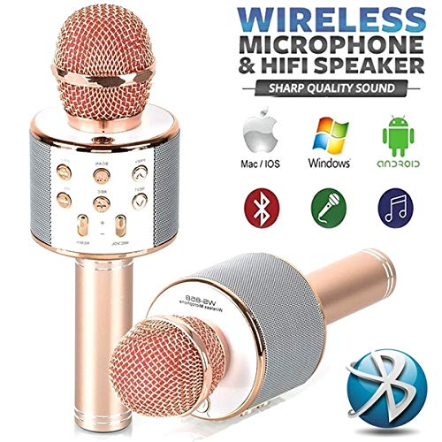 Eadear Wireless Bluetooth Microphone Audio Mobile Phone Karaoke Microphone Microphones