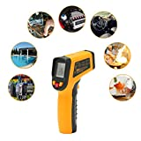 [Updated Version] SOLOOP Non-contact Digital Laser Infrared Thermometer -50? - 600? (-58 - 1112?) Temperature Gun IR Thermometer Without Batteries