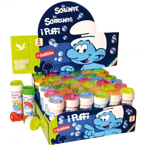 6 X Boys Girls Kids Smurfs Bubbles Party Loot Bag Stocking Fillers