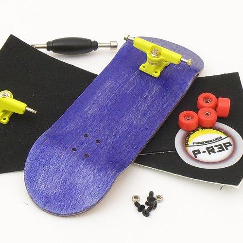 - Peoples Republic 32mm Purple Complete Wooden Fingerboard w Nuts Trucks - Basic Bearing Wheels