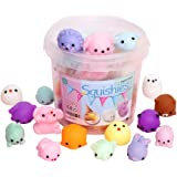 Squishies Squishy Toy 24pcs Party Favors for Kids Mochi Squishy Toy moji Kids Party Favors Mini Kawaii squishies Mochi Stress