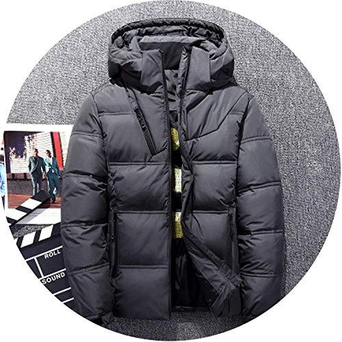 Winter Artifact Windproof Down Jackets Men Warm Winter OuterwearSmart Casual White Down Coats Male Padded,X-Large,905DarkGray