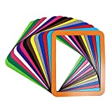 Magnetic Picture Frames for Refrigerator 5'',6'',7'',8'',10'',A4 Colorful Photos Holder, Set of 13 (PVC 8'' x 10'', Single Layer)