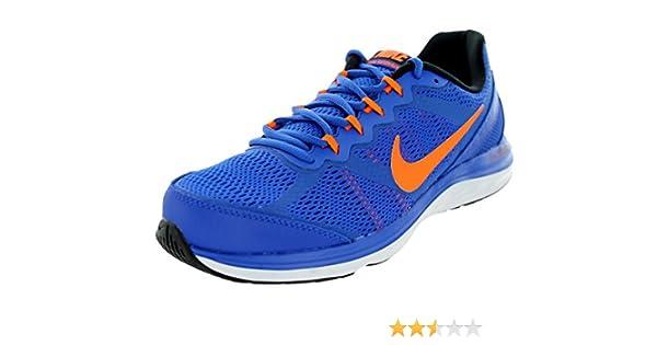 Nike Dual Fusion Run 3, Zapatillas de Running para Hombre, Azul/Naranja (Lyon Blue/Ttl Orange-Blk-White), 45 EU: Amazon.es: Zapatos y complementos