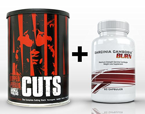 Animal Cuts (42 packs) et Garcinia Cambogia Burn (60 capsules) - The Ultimate Fat Burning, perte de poids combiné. Doublez vos résultats!