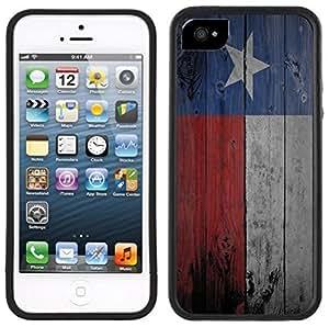 Texas Flag Handmade iPhone 5 5S Black Case