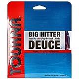 Tourna Big Hitter Deuce - Juego de Cuerdas de poliéster de Dos Tonos, 17 g
