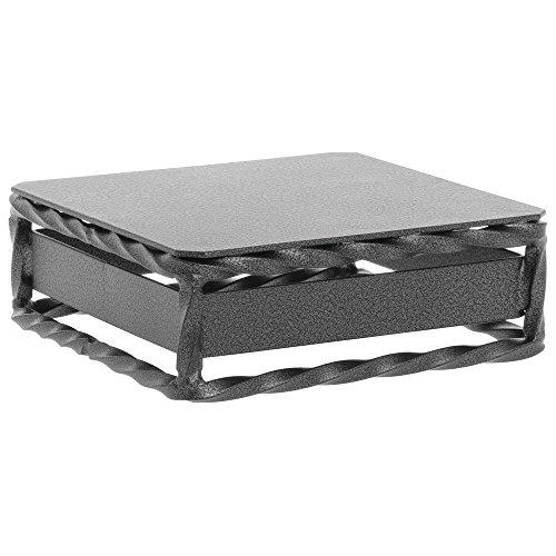 Expressly HUBERT URBAN TWIST Silver-Grey Metal Cube Riser - 6''Square x 2''H by Hubert