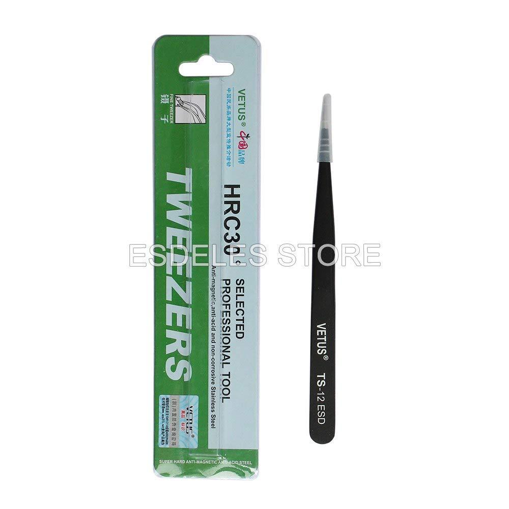 Industrial Tweezers Kit   Stainless Steel   Slim Straight Tweezer   Magnetic Repair Diy Tool by BATOP (Image #5)