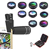 Best Iphone Lens Kits - Phone Lens Kit, Universal 10 in 1 Clip Review