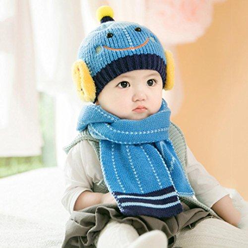 e76d65c427d Sharemen Baby Girls Boys Winter Hat Scarf Cute Warm Scarves Skull