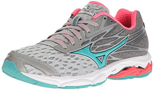 Mizuno Women's Wave Catalyst 2 Running Shoe, Grey/Mint, 9 B US by Mizuno