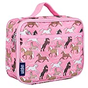Lunch Box, Wildkin Lunch Box, Insulated, Moisture Resistant, and Easy to Clean with Helpful Extras for Quick and Simple Organization, Ages 3+, Perfect for Kids or On-The-Go Parents – Horses
