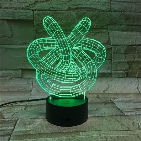 Lámpara de lava 3D Creative 7 Cambio de color LED Luz de noche ...