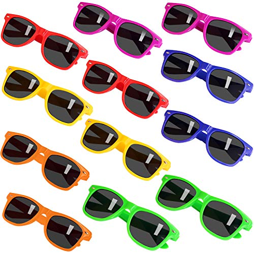 Party Sunglasses for Kids with UV400 Protection Eyewear Neon Sunglasses For Boys,Girls - Great Gift for Party Favors, Birthday Party and Outdoor Activity( 12 Pack ) -
