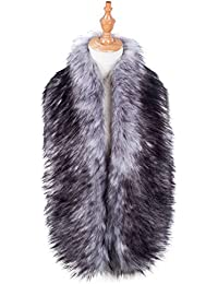 Faux Fur Collar Scarf Shrug for Winter Coat Flapper Fur Feather Boa Gatsby Wrap 1920s Shawl Accessories