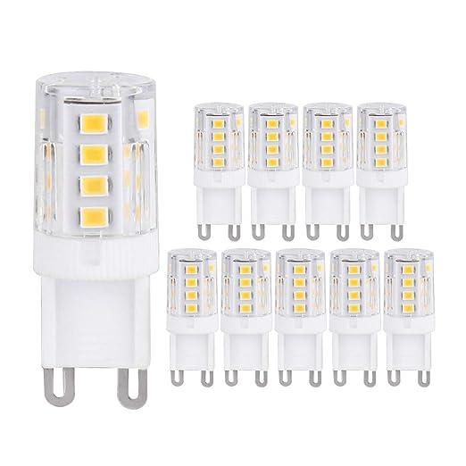 ELINKUME G9 Lámpara LED 2W Blanco cálido G9 Bombilla LED No regulable Reemplazo para 20W G9