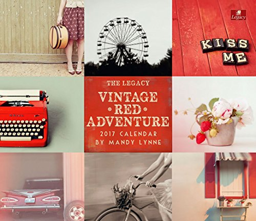 Legacy Publishing Group 2017 Wall Calendar, Vintage Red Adventure