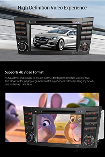 XTRONS Android 6.0 Octa-Core 64Bit 7 Inch Capacitive Touch Screen Car Stereo Radio DVD Player GPS CANbus Screen Mirroring Function OBD2 Tire Pressure Monitoring for Mercedes-Benz E-Class W211 by XTRONS (Image #4)