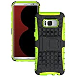 Galaxy S8 Plus Case,Berry Accessory Heavy Duty Rugged [Drop Protection][Shock Proof][Dual Lawyer] Hybrid Defender Armor with Built-in Kickstand Case Cover For Samsung Galaxy S8 Plus 2017 (Green)
