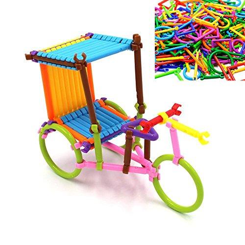 ArRord 205Pcs Bars Multiple Colors Shape Creative Toys Build