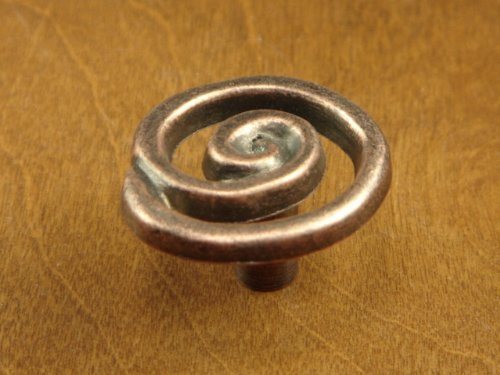 Sonoma Cabinet Hardware Scroll Knob Antique Copper Knob Spread Shabby Chic Swirl Knob Kitchen (Bronze Solid Knob Swirl)