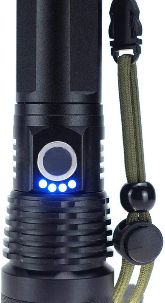bouncevi Linternas LED Recargable Linterna Linterna Alta Potencia Alta Potencia LED Linternas Camping USB Linterna LED Recargable Linterna para Ciclismo Pretty Good